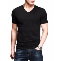Pack X 3 Remeras Entalladas Slim Fit De Hombre Escote V