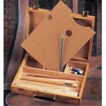Caja Para Pintor De Madera Con Paleta Incluida