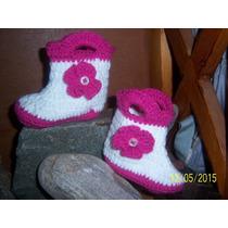 Zapatillas De Bebe Tejidas A Crochet Varios Modelos Y Talle