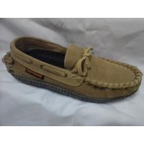 Zapato Hombre Cuero Gamuzado Indio
