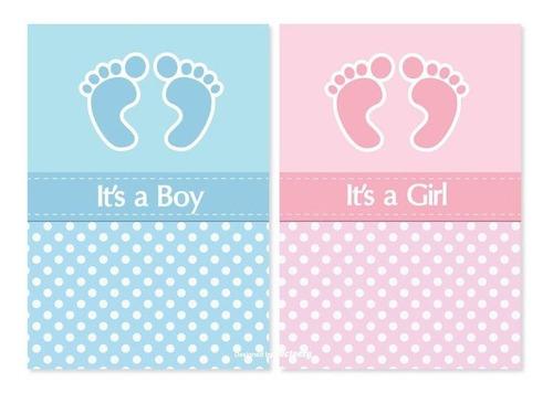 Kit Imprimible Editable Baby Shower Patitas