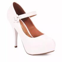 Zapato Stiletto Mujer Cuero Taco Fino Con Pulsera Vizzano