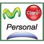 Chip Prepago A Tarjeta Sim Movistar Claro Personal 4g Lte