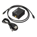 Convertidor Audio Optico  A Rca Con Cable Incluido