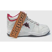 Zapatillas De Dama Kappa Urbanas White/pink Kid Originales