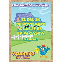 Gallina Pintadita Tarjeta Invitación Imprimible Digital En