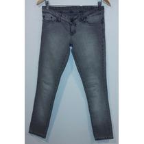 Pantalón De Jeans Ossira Gris Talle 24
