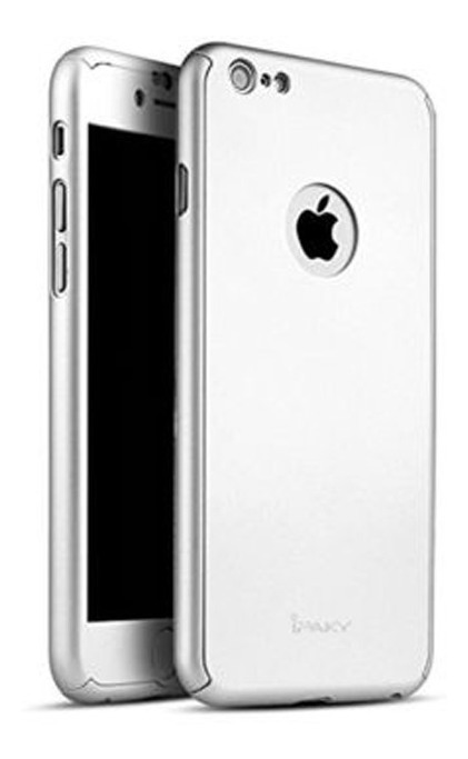 FUNDA IPAKY 360 IPHONE 7 PLUS PLATEADO