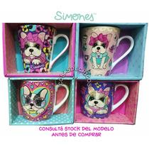 Simones Taza Ceramica Con Caja Sofia Pierre Originales!