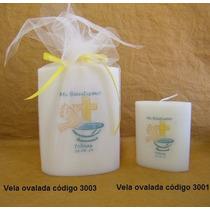 Vela Ovalada Med - Ideal Souvenir Personalizada