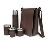 Set Matero Equipo De Mate Morral Marron Regalo Cumple Padre