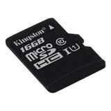 Memoria Micro Sd 16gb Clase 10 Kingston Canvas Select