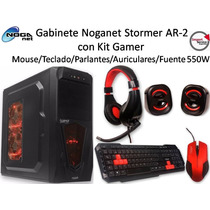 Kit Gamer Gabinete Noganet Stormer Ar-2 Con Fuente