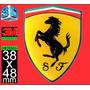 Calco Pegatina Logo Ferrari Encapsulada Domes 1 Calidad