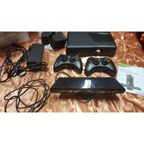 Xbox 360 Slim 4gb Caja Original + 2 Joystick + Kinect Nueva