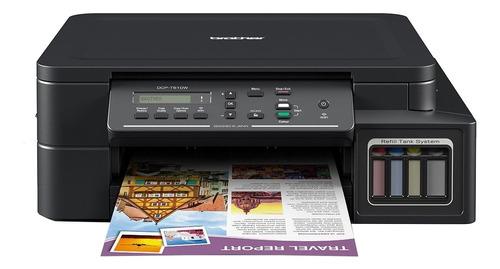 Impresora A Color Multifunción Brother Dcp-t5 Series Dcp-t510w Con Wifi 220v Negra