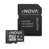 Tarjeta De Memoria Micro Sd 16gb Enova Clase 10