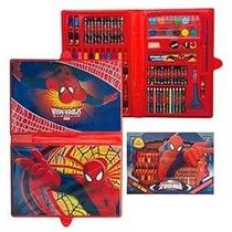 Set De Arte Infantil Cars Spiderman Barbie M High Mickey 81p