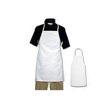 Delantal Pvc Blanco Sin Bolsillo Calidad 120x70 Cm Hot Sale