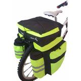 Alforja P/ Bicicleta 2 Bolsillos Portabotellas Cap 70 Lts