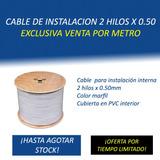 Cable Instalación Interna Telefónica 2 Hilos 0.50mm (por Mt)