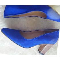 Stilettos Linea Romance, Gamuzados Azul, Todos Los Numeros