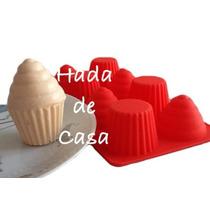 Molde Silicona 3d Cupcake Muffin Horno Chocolate Souvenir