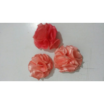 Flores Decorativas-artificiales-de Raso-(x10)