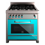 Cocina Morelli Vintage 900 5 Hornallas  A Gas/eléctrica Verde Puerta Visor