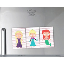 Souvenir Evento 3 Personajes Mezclados Iman Princesas Disney