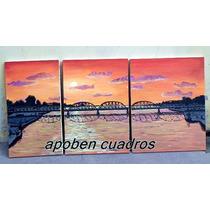 Cuadro Triptico El Puente Carretero