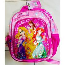 Mochila Escolar Jardín Licencia Espalda Princesas 12 Pulgada