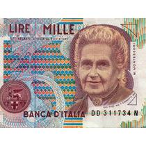 Billete De Italia - 1000 Liras - 1990 - En Mendoza
