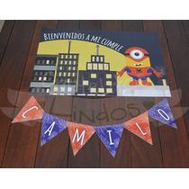 Cartel Bienvenida Personalizado Cumpleaños Comunión Bautismo