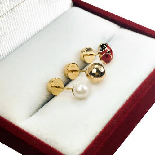 0f94000ed48b Par Abridores Perno Oro 18k Bebe Bolita Perla Vaquita Promo en venta en La  Matanza Bs.As. G.B.A. Oeste por sólo   830