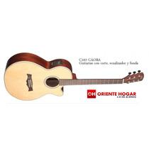 Guitarra Acústica C/eq La Alpujarra Caoba C/funda Acolc