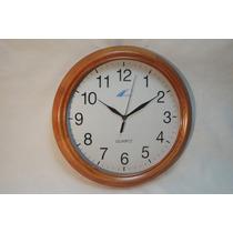 Reloj De Pared De Madera 33 Cm De Diámetro