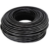 Cable Rollo 100mts Utp Exterior Cat 5e Red Vaina Negra Cctv