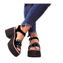 Zapatos Sandalias Mujer Dama Livianas Tachas Verano-19 A.230