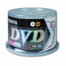 Dvd-r + R Dual Layer 8x Printable Bulk 50 Unidades