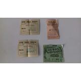Lote 4 Antiguas Entradas De Cine Decada Del '50  Luigi1910