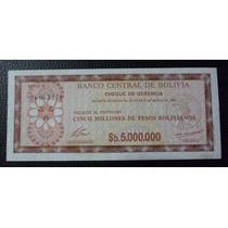 Bolivia Billete 5000000 Pesos Bolivianos Au 1985
