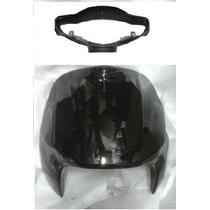 Juego De Frente Y Cubre Optica Corven Energy 110 Negro - 2r