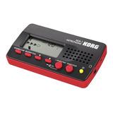 Metronomo Digital Korg Ma 1 Bkrd Negro Y Rojo Con Funcion Tap Tempo Patrones De Ritmo Auto Apagado Salida De Auriculares