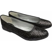 Zapatos Balerinas De Brillos O Glitters Para Nena Fiesta