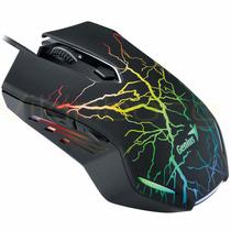Mouse Gamer Genius X-g300 2000 Dpi Luz 7 Colores 6 Botones