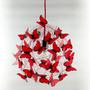 Lámpara De Diseño Colgante Mariposas Rojas Decoración Mujer