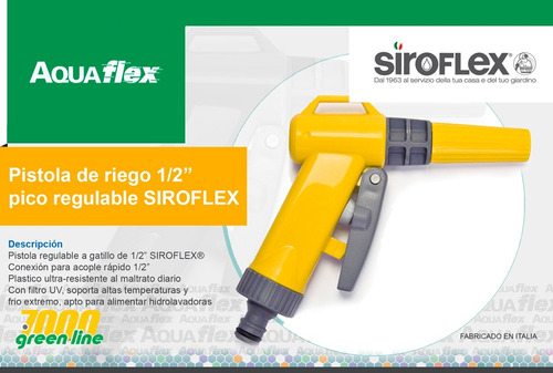 Pistola De Riego Regulable Gatillo Siroflex 7600 Aquaflex