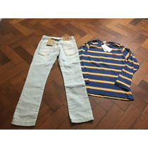Set De Jean + Remera Ml Cheeky Varon Talle 8 Nuevo