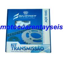Kit De Transmision Honda Cbx 250 Twister Siverst Brasil